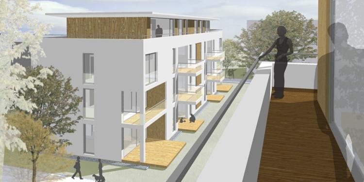 Hirsch Architekten neubau 4 stadtvillen lahmann areal weißer hirsch dresden mit